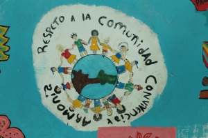 Coexistence and Harmony Mural inside La Escuelita